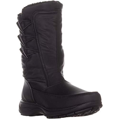Sporto Womens Dana Closed Toe Mid-Calf Cold Weather Boots, Black, Size 6.0
