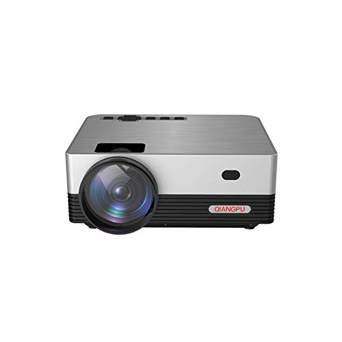 Riavika 4000 Lux Projector with Synchronize Smart Phone Screen, Full HD 1080P and 120'' Display Supported,50,000Hrs LED Life and Portable Projector Compatible with HDMI,USB,TF,AV,VGA,PS4