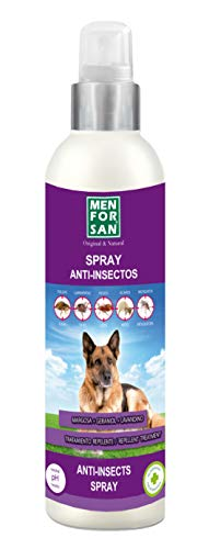 MENFORSAN Spray Anti-Insectos con Margosa, Geraniol Y Lavandino Perros - 250 ml