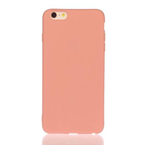 LeviDo Funda Compatible para iPhone 6/iPhone 6s Silicona TPU Gel Case Ultrafina Carcasa Goma Bumper Antigolpes Resistente Kawaii Color Caramelo One Piece Cover, Naranja