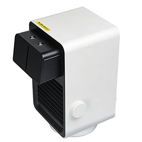 Pumprout Mini Calentador eléctrico, Ventilador de calefacción portátil para el hogar, Ventilador de Aire Caliente de 800 W, Calentador de Escritorio con agitación, Ventilador Interior para el hogar