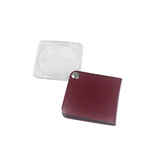 YUQIYU 3,5 Veces Anciano Leyendo Mini Plegable portátil de Vidrio, Vaso pequeño, Plegable portátil Adecuado for los Ancianos Lectura de periódicos