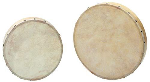 Betzold Musik Tamburin, mit Schlägel, Holzrahmen, bespannt mit Naturfell