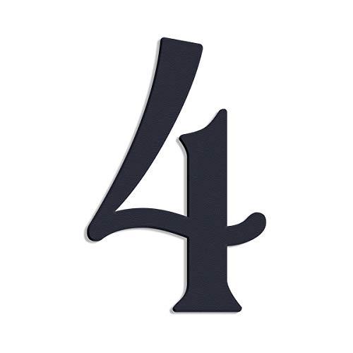 Thorwa® verschnörkelte Design Edelstahl Hausnummer Cabaletta Stil, anthrazit pulverbeschichtet, H: 160mm, RAL 7016 (4)