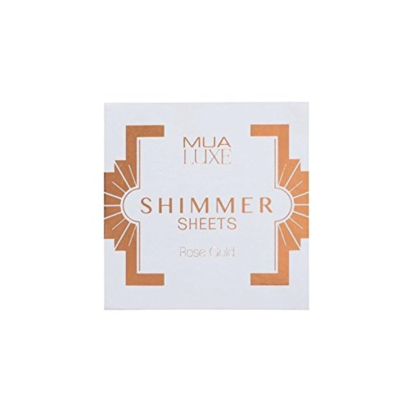 雑種四ハンバーガーラックスのきらめきシートは、ローズゴールド x2 - MUA Luxe Shimmer Sheet Rose Gold (Pack of 2) [並行輸入品]