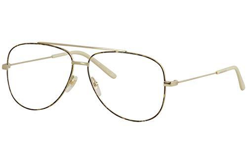 Gucci Gafas anteojos GG0442O 003 de oro de la estructura de metal del tamaño de 60 mm de gafas de sol hombre