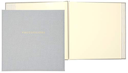 C.R. Gibson Gray 'Photographs' 1-Up Magnetic Memory Book and Photo Album, 16 Pages, 13.6' W x 13' H