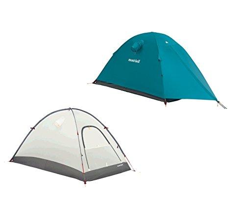 モンベル ステラリッジ テント 1型 本体(#1122532)+フライシート(#1122536)ピーコック(PE)