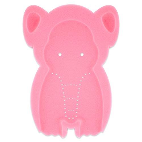 HALLO Soft Infant Bath Sponge Elephant Baby Bath Mat Newborn Comfy Foam Skid-Proof Cushion Odor Free(Pink)