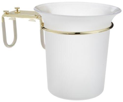 Taymor Acrylic Bathtub Ice Bucket with Polished Brass Bracket