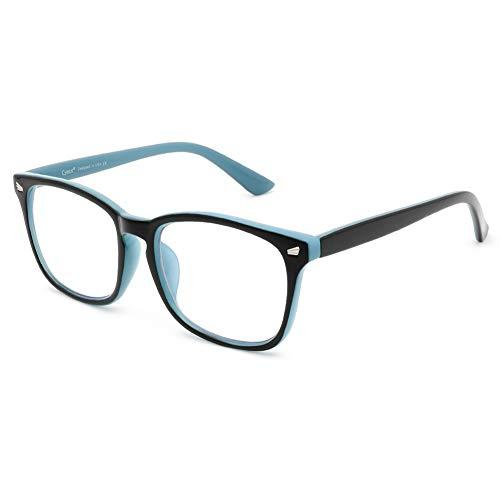 Cyxus Óculos de Luz azul Óculos Quadrados para Computador Óculos Anti-fadiga Ocular Lente Transparente UV400 para Mulheres/Homens