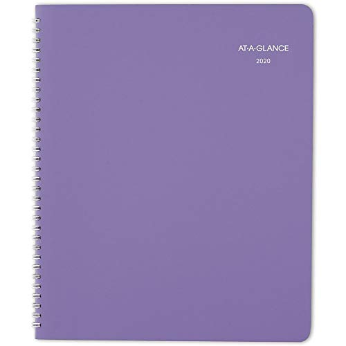 """AT-A-GLANCE 2020 Monthly Planner, 8-1/2"""" x 11"""", Large, Beautiful Day, Lavender (938P-900)"""