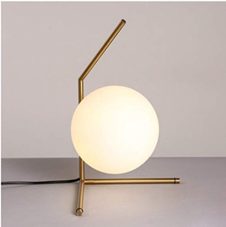 Xiadsk Moderne Metall tischlampe EU US stecker Ac 110-240 v E14 led Lampe Nordic Design glaskugel nachttischlampe Schlafzimmer