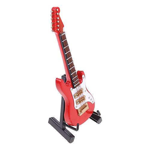 WT-DDJJK Guitarra eléctrica, réplica de Guitarra eléctrica en Miniatura de 10 cm...