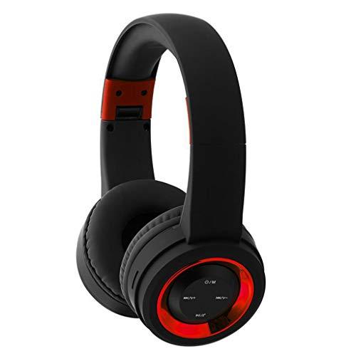 Yowablo Bluetooth-Headset-Headset FM-Musik-Sport-Stecker-Cartoon mit Explosionsmodellen, die mehrfarbiges drahtloses Bluetooth-Headset zusammenklappen(rot)