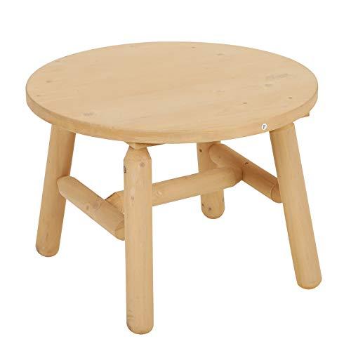 Outsunny salontafel voor buiten, rond, schimmel- en vuilafstotend, gemakkelijk te monteren, robuust hout, 63,5 x 45 cm