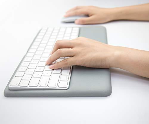 Vaydeer Keyboard Wrist Rest Ergonomischer Tastaturständer Kompatibel mit Wireless Keyboard 2 (MLA22L / A) (Silikon, Grau)