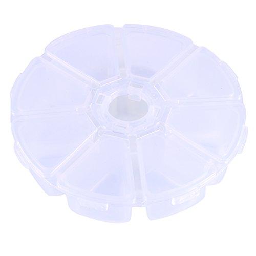 7 STKS 8 vakken ronde plastic opbergdoos kraal organisator Display Containers Divider Sieraden Box naaidoos