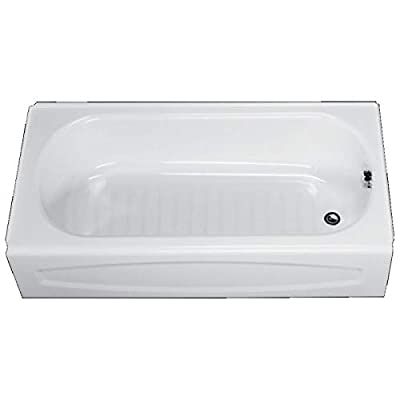American Standard 0255.112.020 New Salem Soaking Bathtub Right Hand Outlet, 5-Feet, White