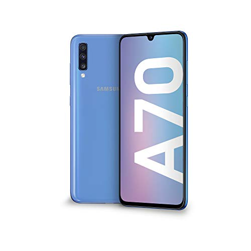 Samsung Galaxy A70 Display 6.7', 128 GB Espandibili, RAM 6 GB, Batteria 4500 mAh, 4G, Dual SIM Smartphone, Android 9 Pie, (2019) [Versione Italiana], Blu