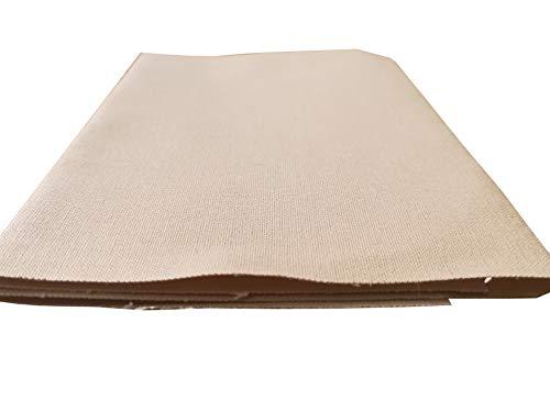 Campfrei Zelt Reparatur Bügelstoff Sand Wasserdicht 34x12 cm Baumwolle Zeltstoff