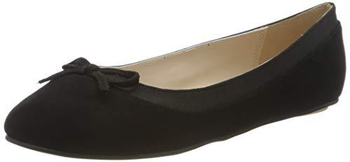 Buffalo Damen ANNELIE Geschlossene Ballerinas, Schwarz (Black 001), 38 EU