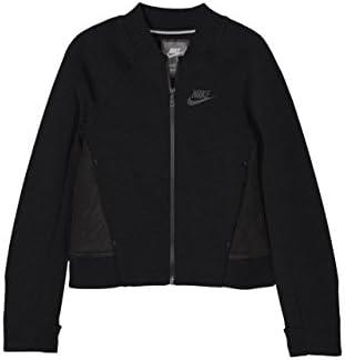 Nike Girl s Tech Fleece Bomber Jacket Black 728413 010 s product image