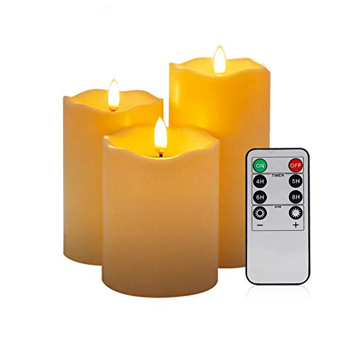 ZR&YW Led Flickering Flameless Tea Lights Candles with Remote, for Christmas Decoration Festivals Weddings Mother's Day