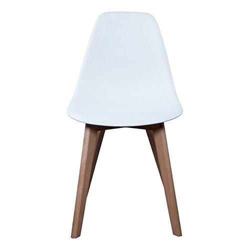 Chaise Scandinave avec coussin - Blanc