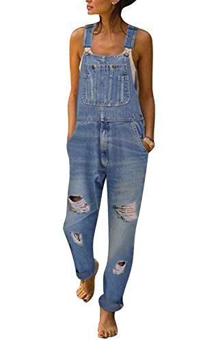 MAGIMODAC jeans broek dames jeans jeanslatbroek jeansbroek maat 36-50 jumpsuit denim jeans broek broek draagbroek overall met bloemenprint