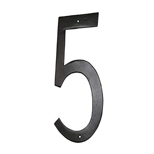 Montague Metal Products Standard Font Individual House Number, 5, 8-Inch