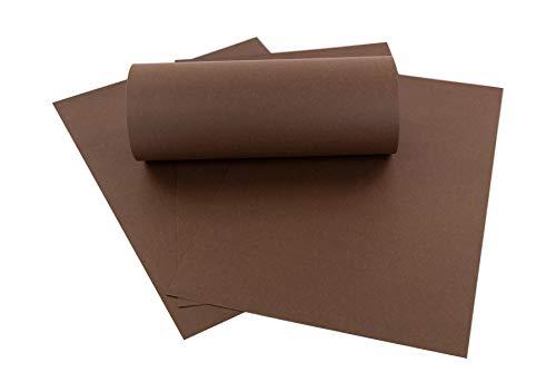 ZADAWERK® Tonkarton - 230 g/m² - DIN A3 - Braun - 50 Stück - basteln - Kinder