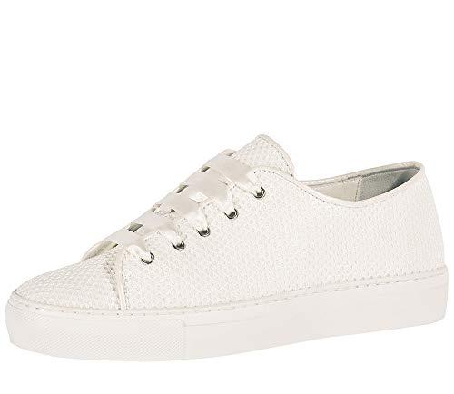 Fiarucci Brautschuhe Pammy - Damen Sneaker gepolstert, Glitzer Ivory/Creme, Mesh - Gr. 40 (UK 7)