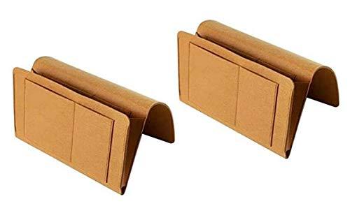 Speed. 2 Stück Betttaschen Sofa Organizer für Bücher Zeitschriften iPad Handy usw.