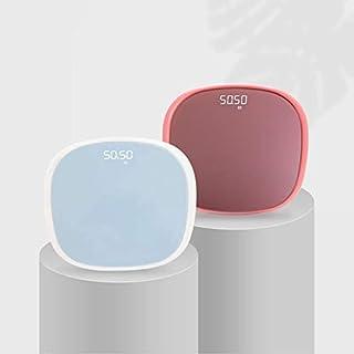 Báscula electrónica para pesaje para el cuerpo, báscula personal, báscula, báscula, báscula, suministros de peso corporal, báscula (color: rosa)