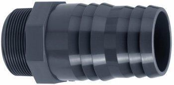 PVC-Schlauchtülle, mit Außengewinde, 63 mm / 2