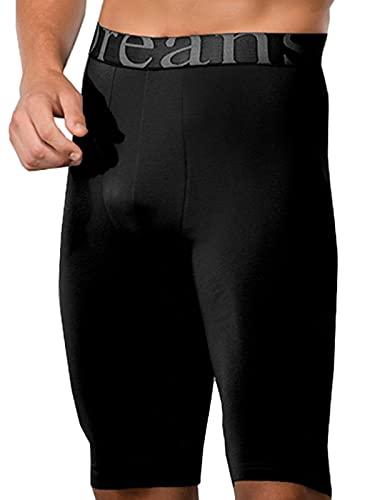 Doreanse Underwear Herren Langbein Boxershorts Modal Long Boxer Schwarz L