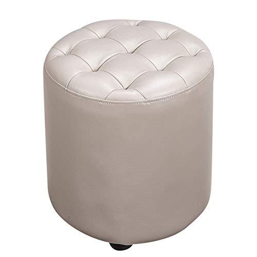 FSYGZJ Puf de Cubo tapizado de Cuero Otomano, puf Taburete de Madera Maciza Plaza de Cuero Mesa de Centro para Sala de Estar Banco pequeño-h 35x35x40cm (14x14x16inch)