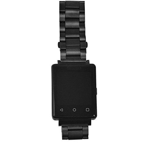 Bluetooch reloj teléfono reloj para niños G7S reloj inteligente para hombres a prueba de agua reloj de pulsera, con tarjeta SIM Android, acero–negro apoyo llamada Función muñeca reloj fecha