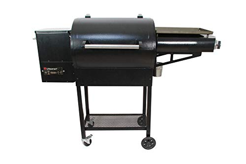 LifeSmart 510 Square Inch Pellet Grill with Griddle Griddles