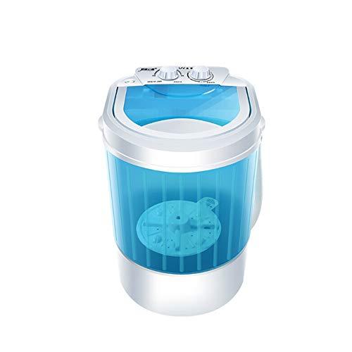 OCYE Lavatrice Portatile, Piccola Lavatrice Semi-Automatica compatta con Controllo Timer Vasca Singola traslucida, Grande capacità (Blu)