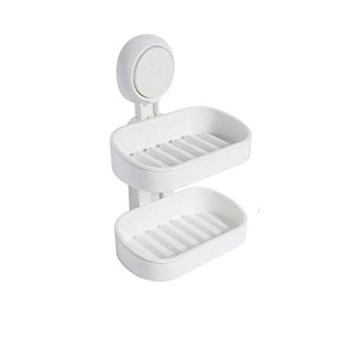 AQ89 Soap Holder  Drainable Suction Cup Soap Holder 20 Seconds to Install Free of Nails Home & Garden Housekeeping & Organizers
