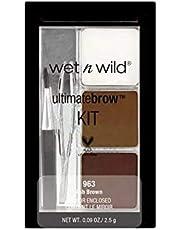 Wet N Wild wenkbrauwkleur - Ultimatebrow™Kit Ash Brown / 6-delige wenkbrauwset, Ash Brown, 1 stuk, 2,5 g