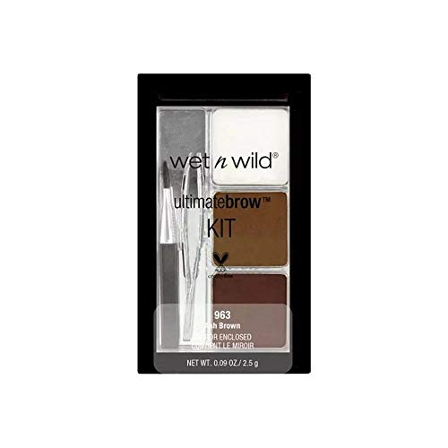 Wet N Wild Augenbrauenfarbe - Ultimatebrow™Kit Ash Brown / 6-teiliges Augenbrauen-Set, Ash Brown,...