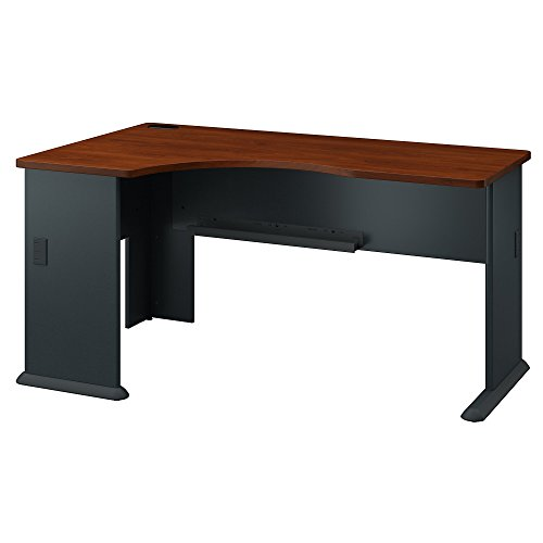 Bush Business Furniture Series A Left Corner Desk in Hansen Cherry and Galaxy