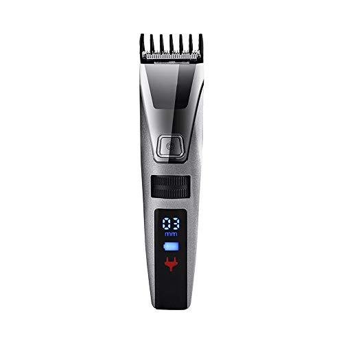GFDFD Nariz eléctrico recargable de las podadoras de pelo de la ceja del pelo ajustable digital Trimmer eléctrico profesional de afeitar la barba máquina de afeitar Peines