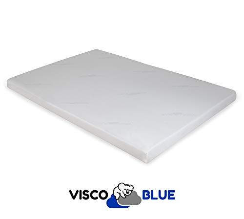 Visco Blue Topper Viscoelástico, Premium, 150x190 cm, Grosor 6 cm