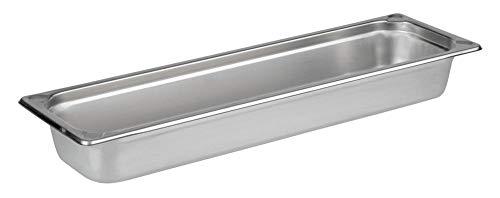 APS 81802 GN 2/4 Behälter, rostfreier Gastronormbehälter Edelstahl, Abmessungen 160 x 530 mm/Höhe 65 mm/Volumen 3,6 Liter