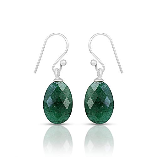 925 Sterling Silver Green Onyx Earrings, Green Stone Earring, Dark Green Onyx Earrings, Stone Earrings, Genuine Green Onyx Earrings