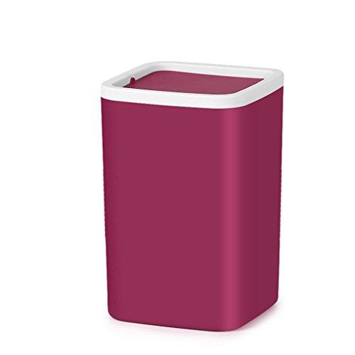 PRIDE Schud de tafel prullenbak creatieve mini kantoor koffietafel woonkamer keuken slaapkamer tafel kleine plastic paper basket (Color : C)